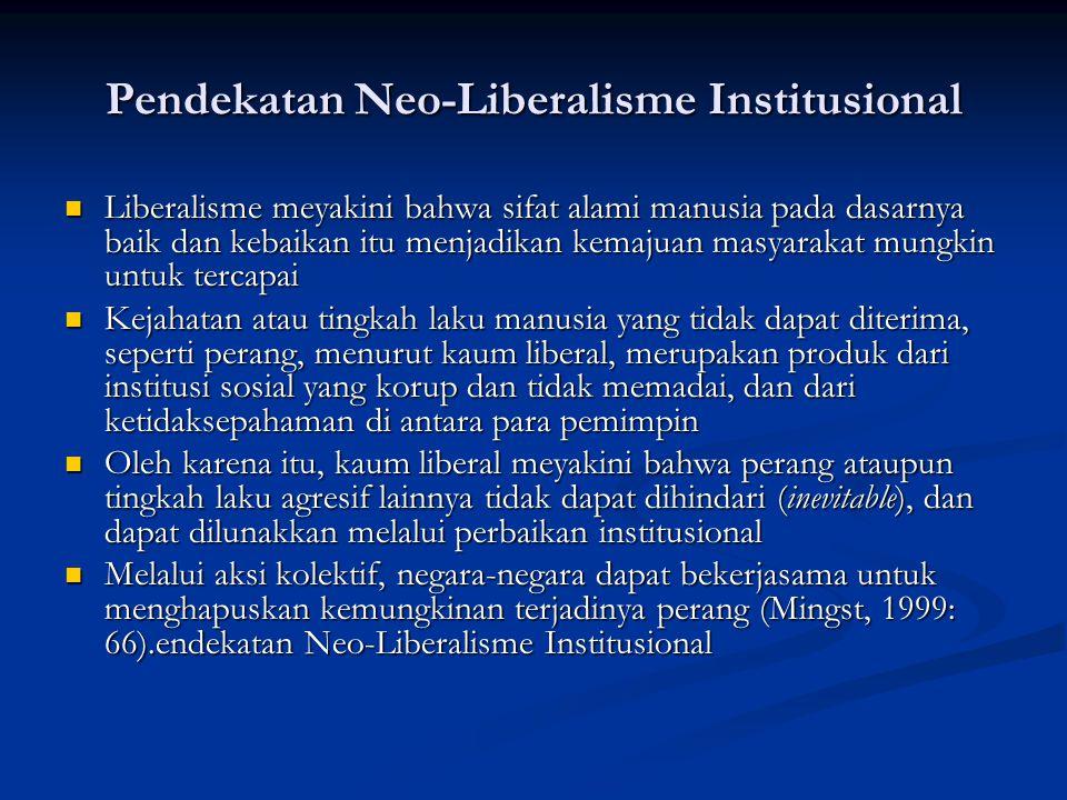 Pendekatan Neo-Liberalisme Institusional