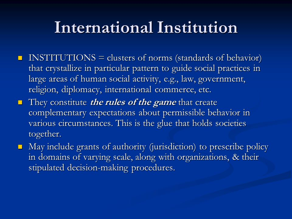 International Institution
