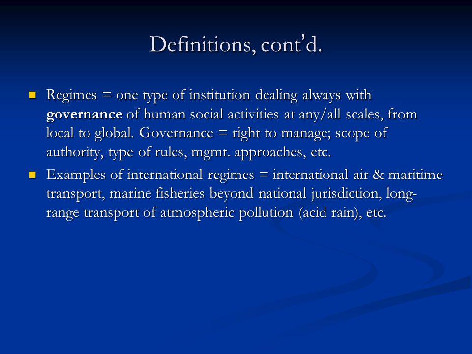 Definitions, cont'd.