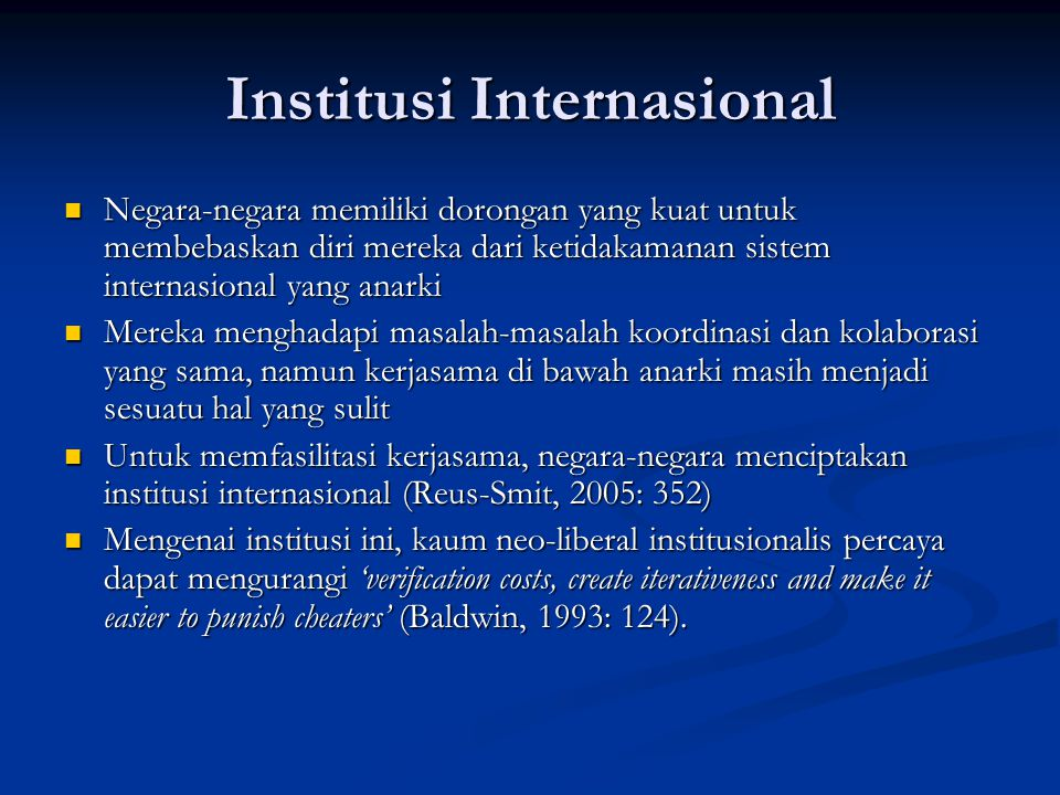 Institusi Internasional