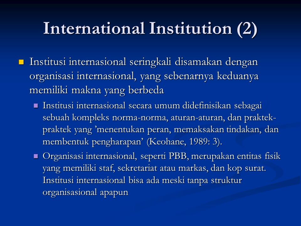 International Institution (2)