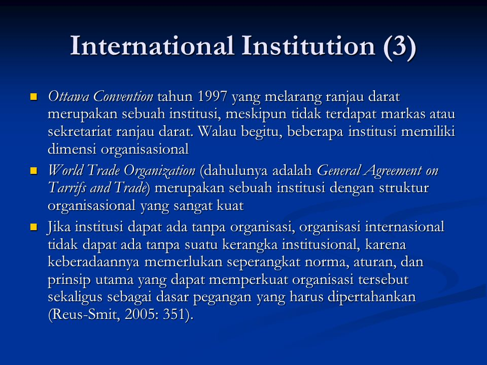 International Institution (3)