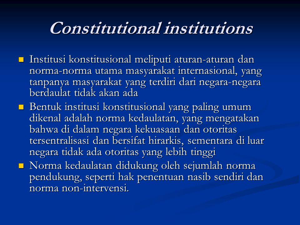Constitutional institutions