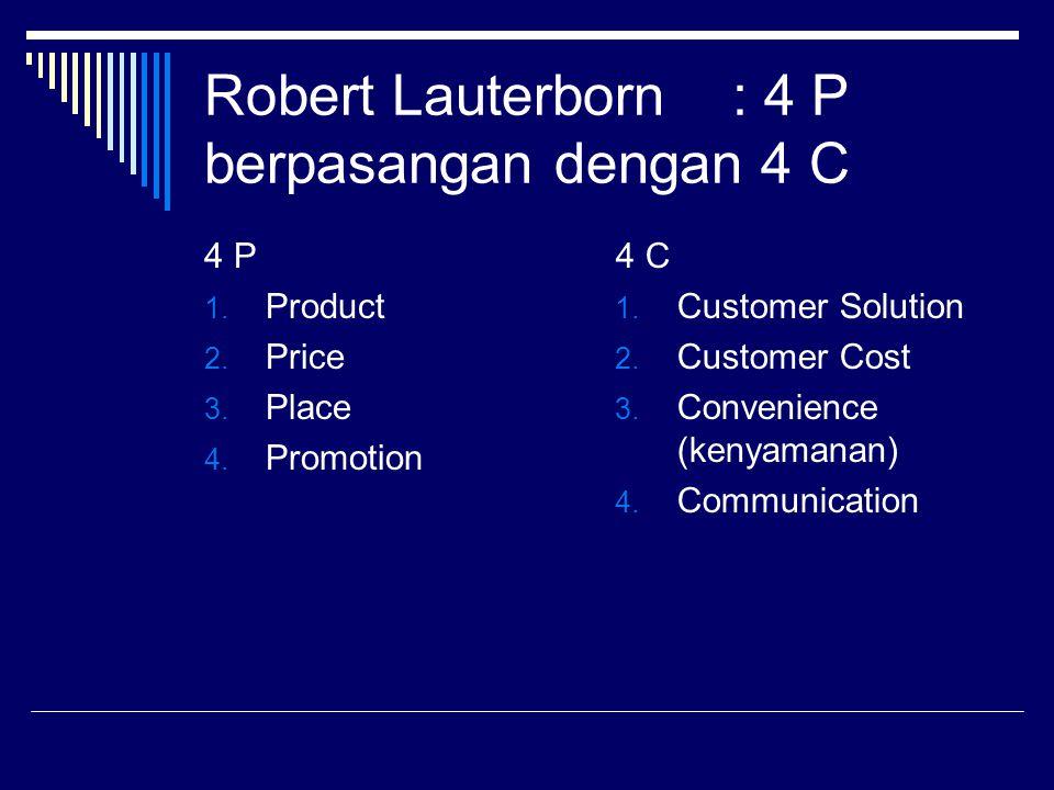 Robert Lauterborn : 4 P berpasangan dengan 4 C