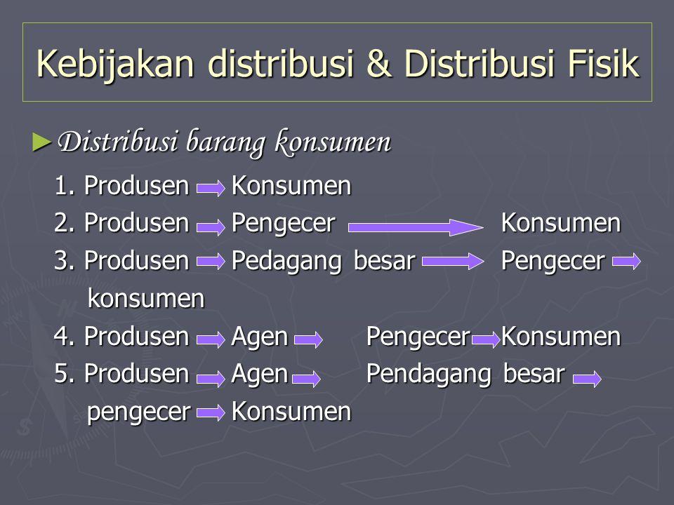 Kebijakan distribusi & Distribusi Fisik