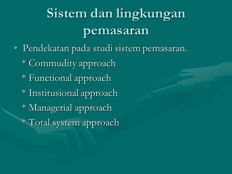 Sistem dan lingkungan pemasaran