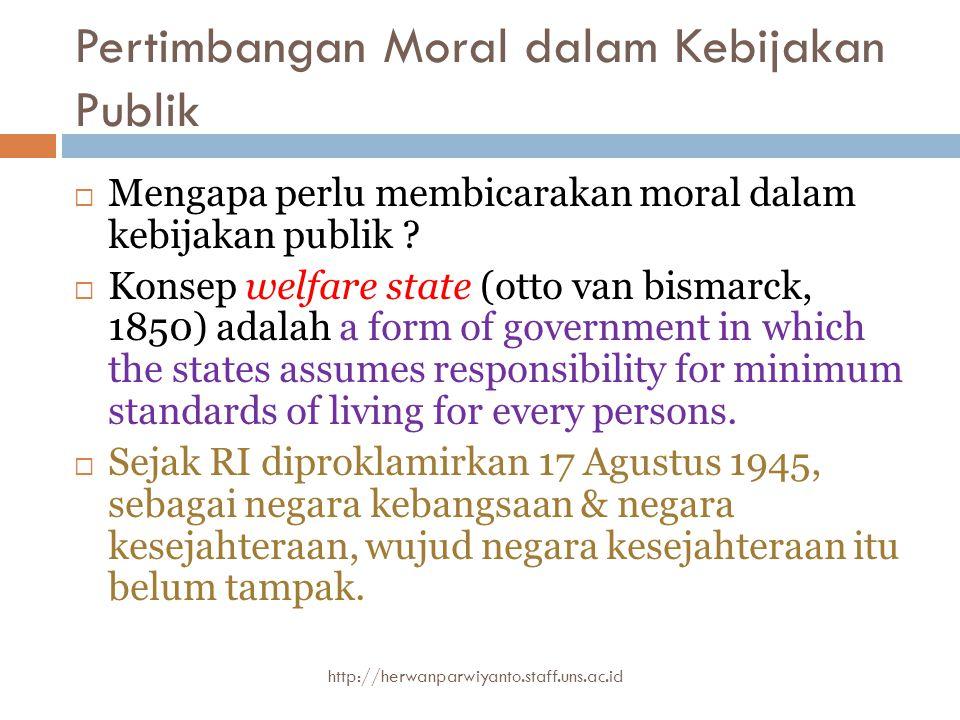 Pertimbangan Moral dalam Kebijakan Publik