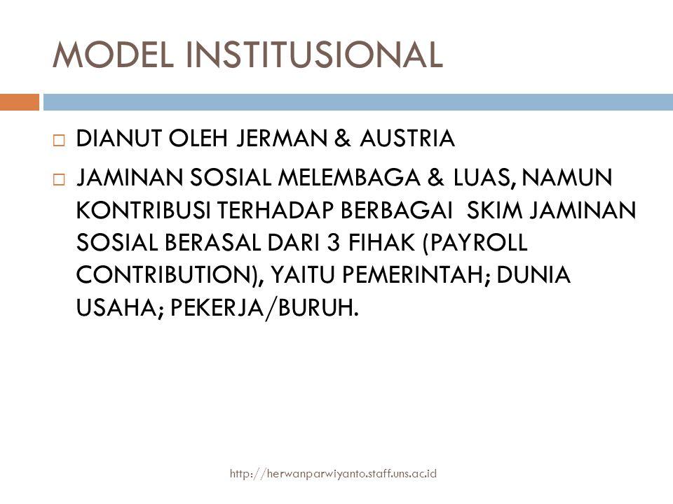 MODEL INSTITUSIONAL DIANUT OLEH JERMAN & AUSTRIA