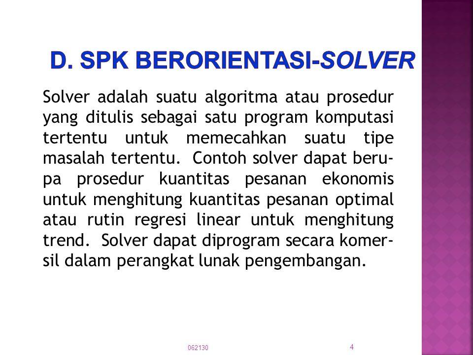 d. SPK berorientasi-Solver