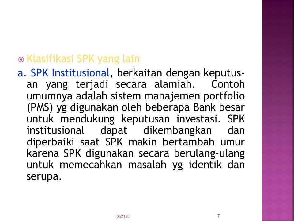 Klasifikasi SPK yang lain