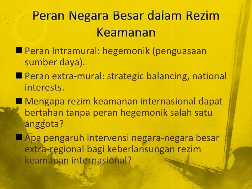 Peran Negara Besar dalam Rezim Keamanan