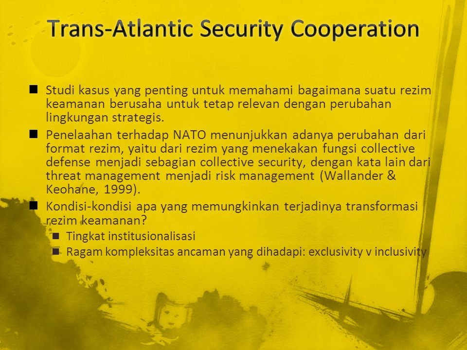 Trans-Atlantic Security Cooperation