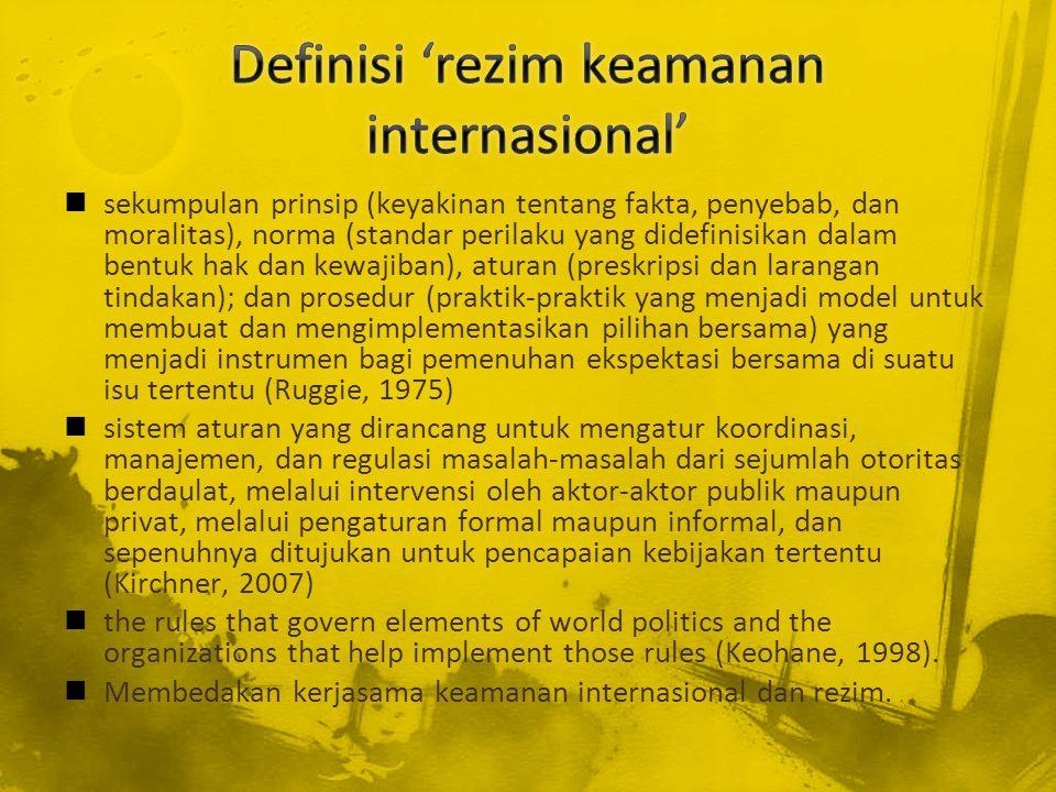Definisi 'rezim keamanan internasional'