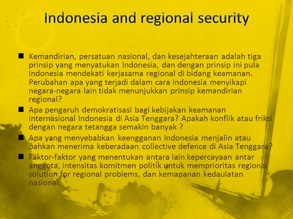 Indonesia and regional security