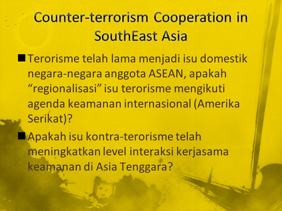 Counter-terrorism Cooperation in SouthEast Asia