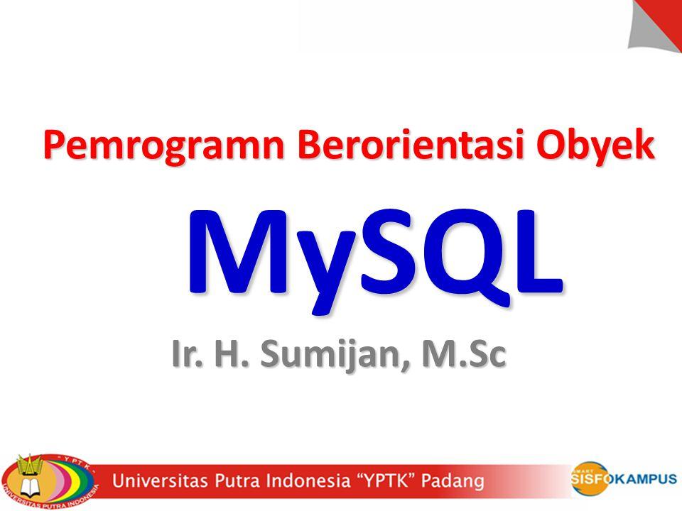 Pemrogramn Berorientasi Obyek MySQL