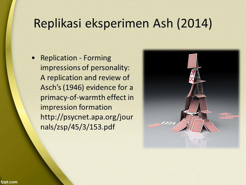 Replikasi eksperimen Ash (2014)