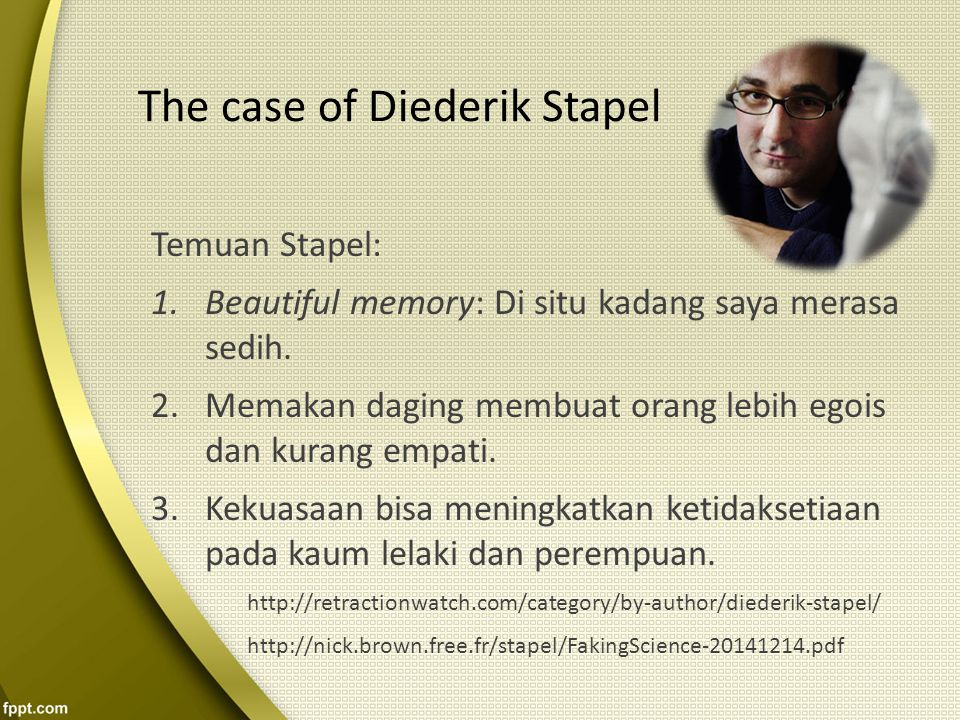 The case of Diederik Stapel