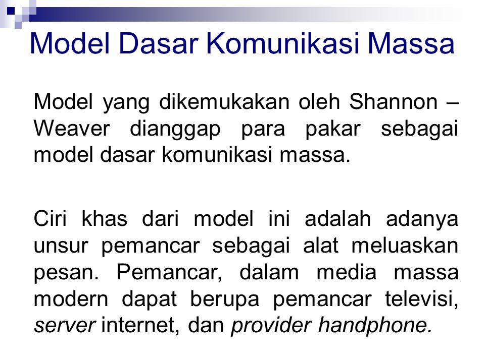 Model Dasar Komunikasi Massa