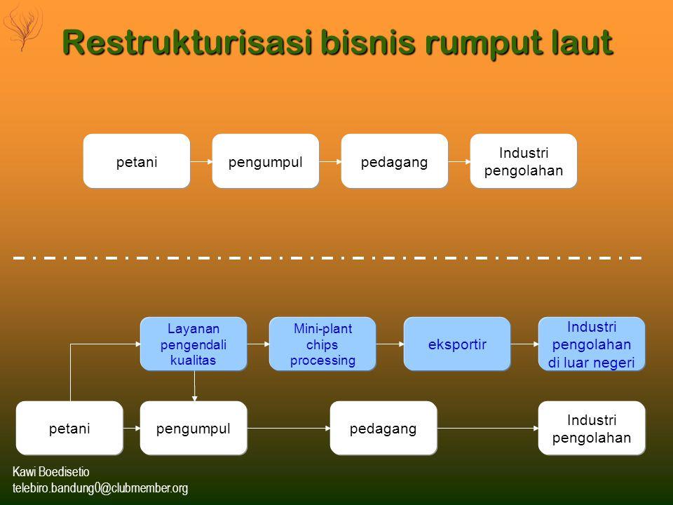 Restrukturisasi bisnis rumput laut