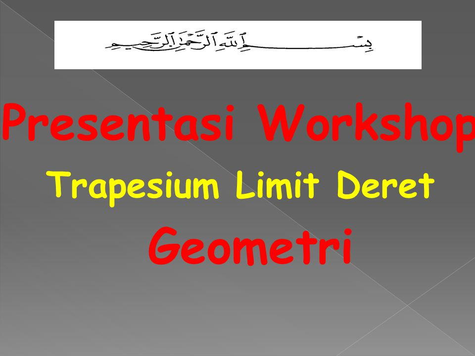 Presentasi Workshop Geometri