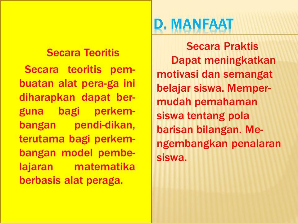 D. Manfaat