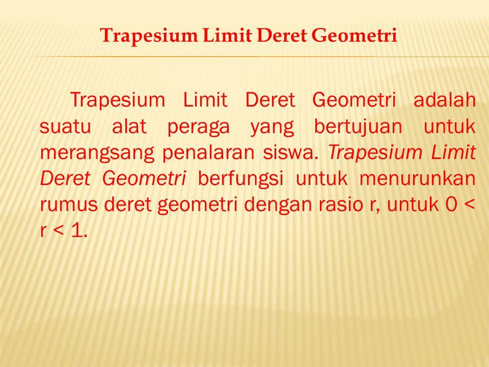 Trapesium Limit Deret Geometri