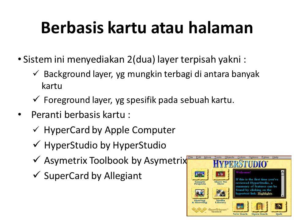 Berbasis kartu atau halaman
