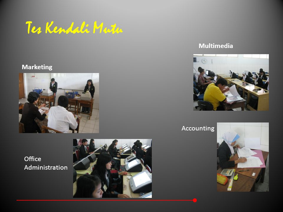 Tes Kendali Mutu Multimedia Marketing Accounting Office Administration