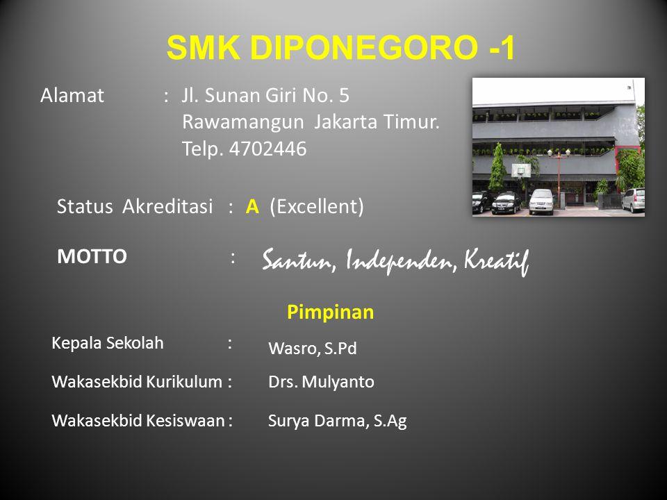 SMK DIPONEGORO -1 Santun, Independen, Kreatif