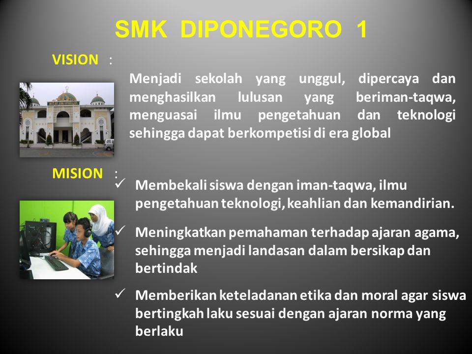 SMK DIPONEGORO 1 VISION :