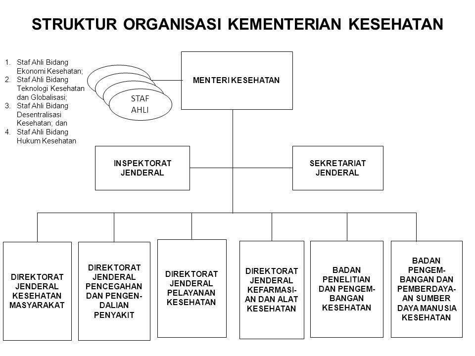 STRUKTUR ORGANISASI KEMENTERIAN KESEHATAN