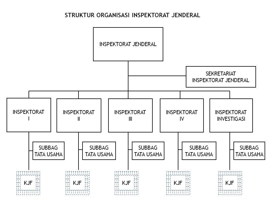 STRUKTUR ORGANISASI INSPEKTORAT JENDERAL