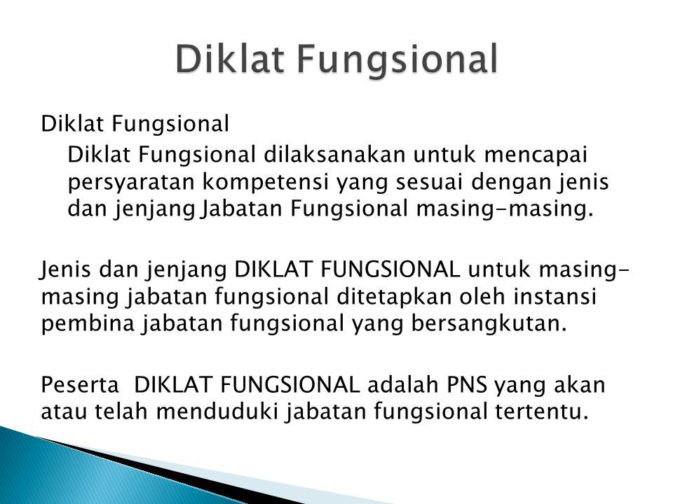 Diklat Fungsional
