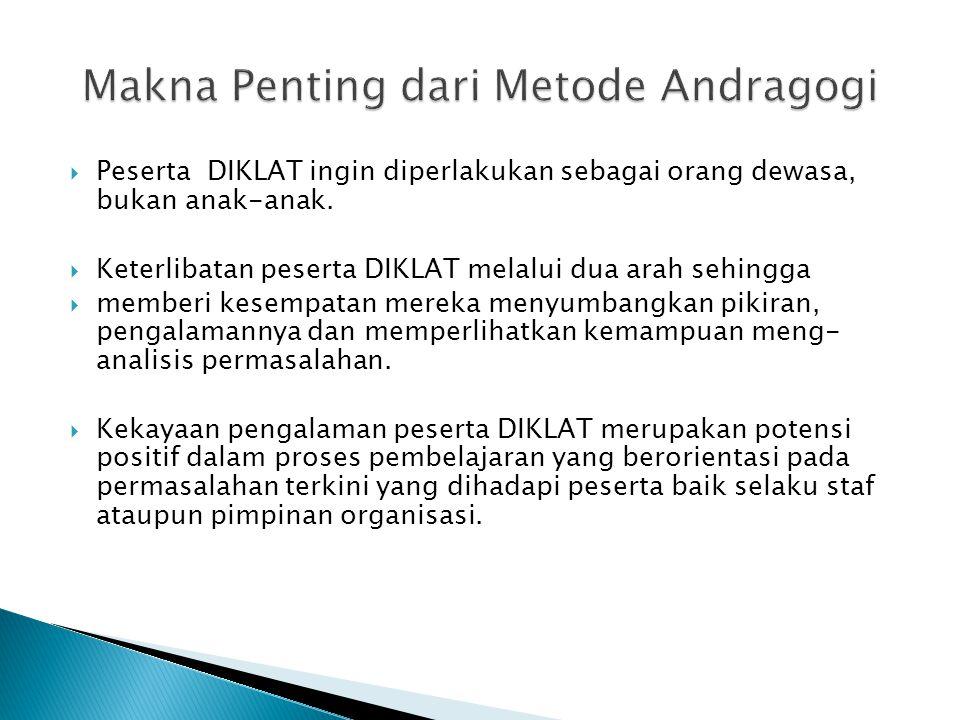 Makna Penting dari Metode Andragogi