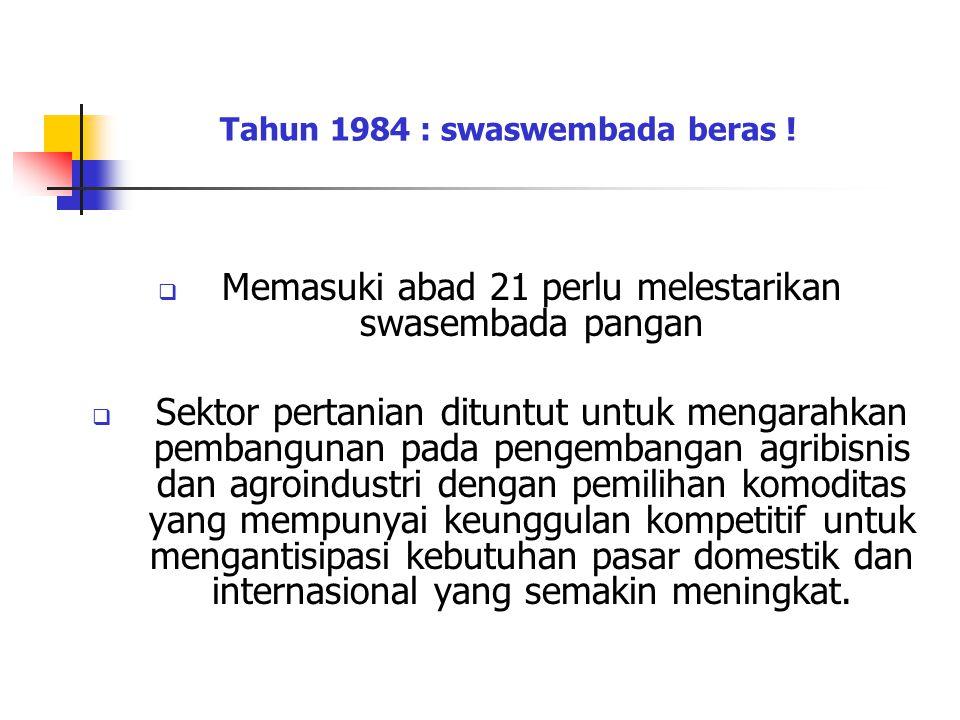 Tahun 1984 : swaswembada beras !