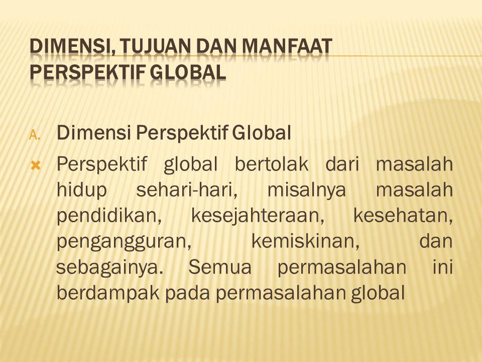 Dimensi, Tujuan dan Manfaat Perspektif Global