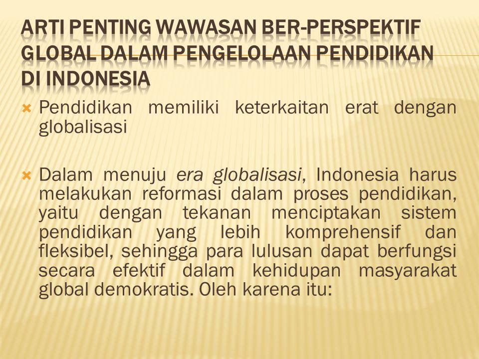 Arti Penting Wawasan Ber-Perspektif Global dalam Pengelolaan Pendidikan di Indonesia