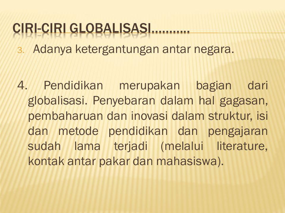 Ciri-ciri Globalisasi...........