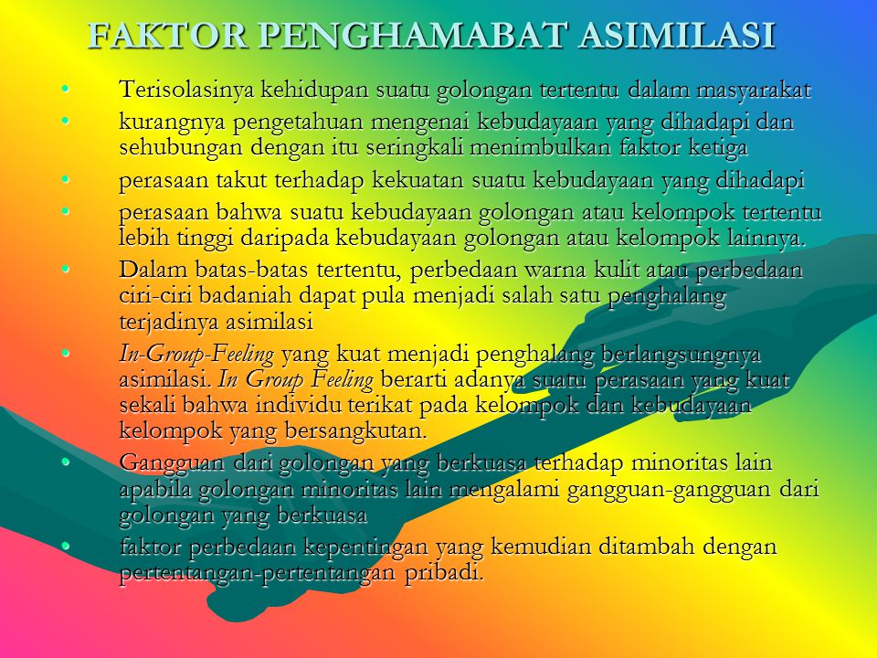 FAKTOR PENGHAMABAT ASIMILASI