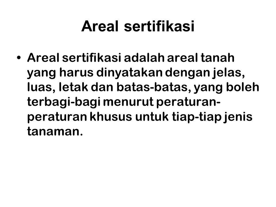 Areal sertifikasi