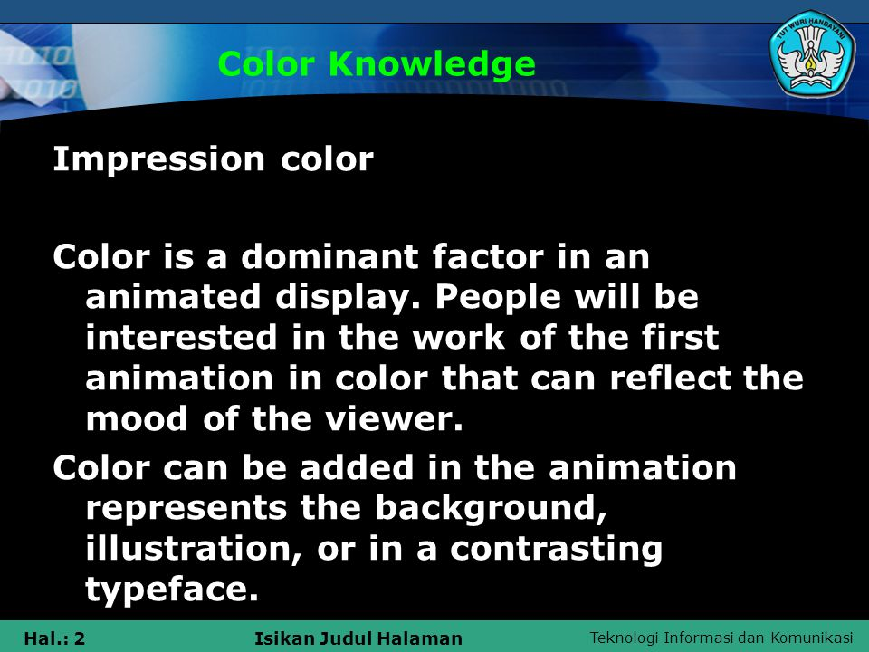 Color Knowledge Impression color.