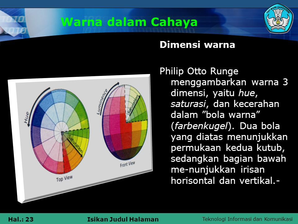 Warna dalam Cahaya Dimensi warna