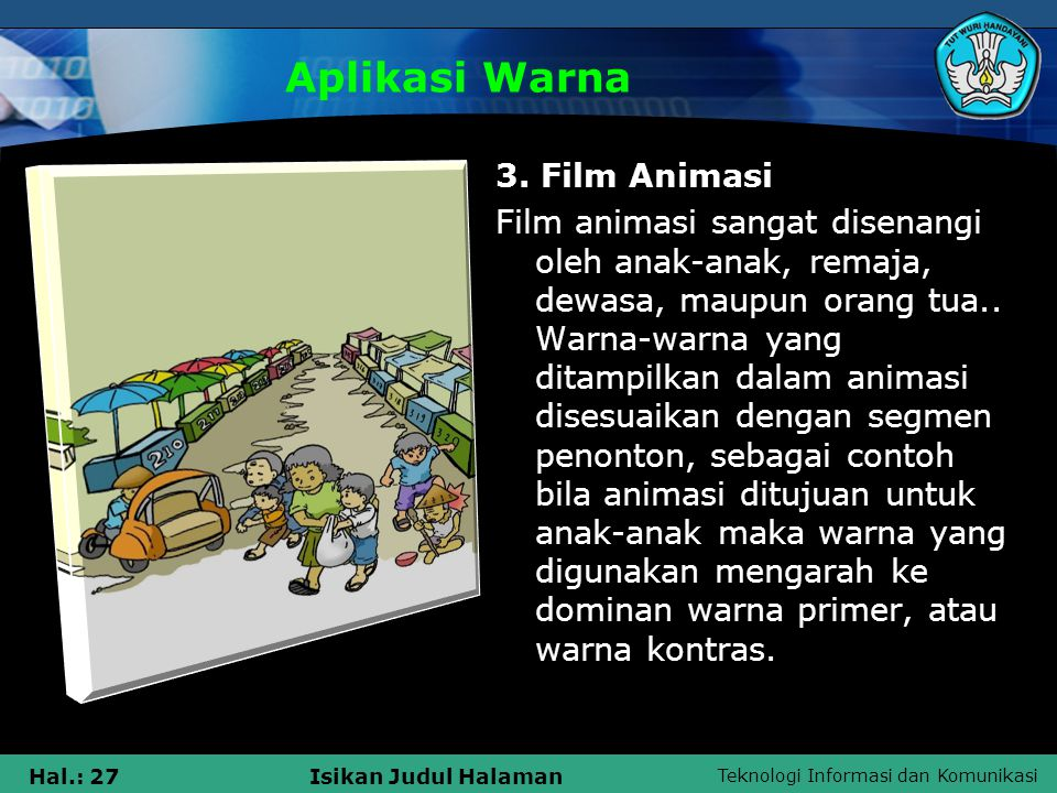 Aplikasi Warna 3. Film Animasi