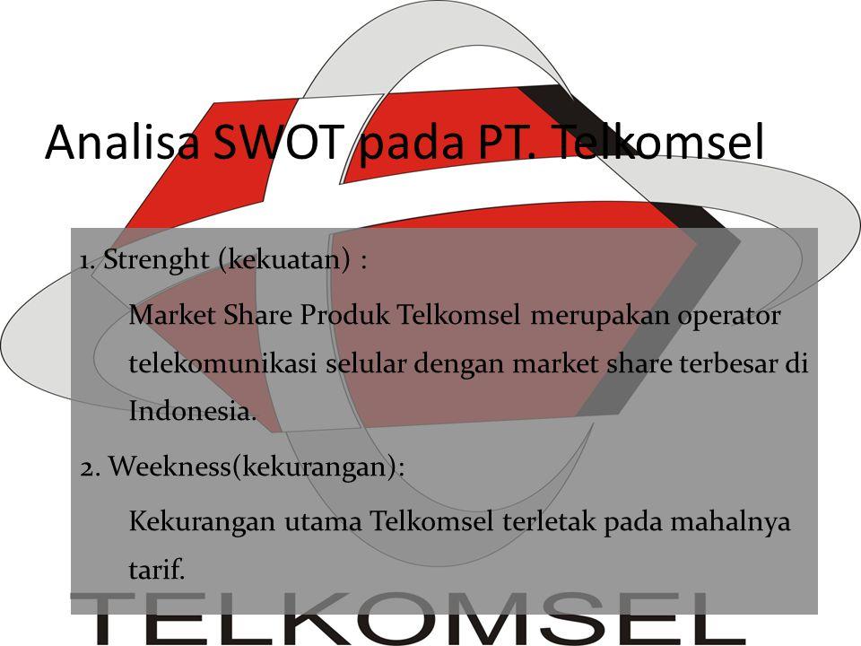 Analisa SWOT pada PT. Telkomsel