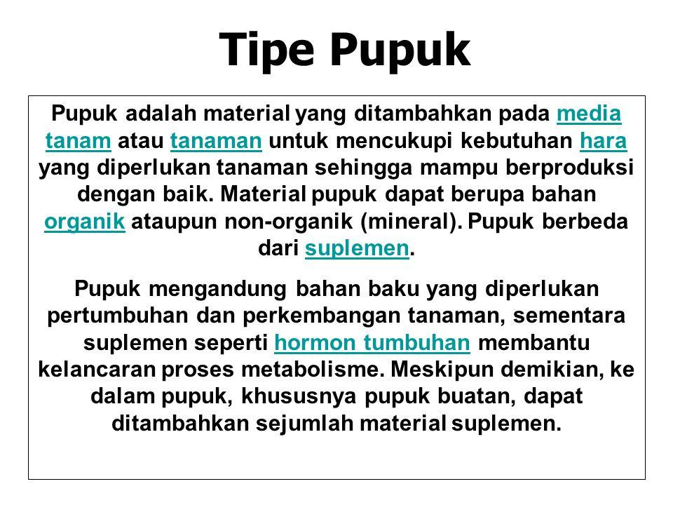 Tipe Pupuk