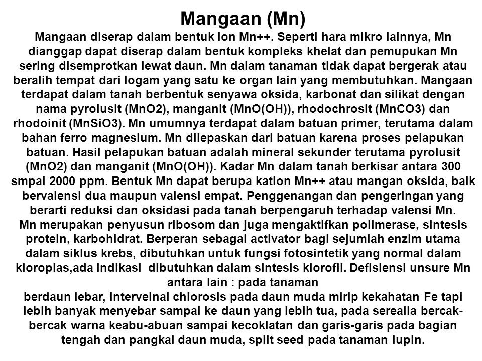 Mangaan (Mn)