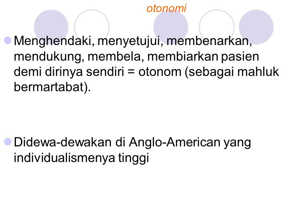 Didewa-dewakan di Anglo-American yang individualismenya tinggi