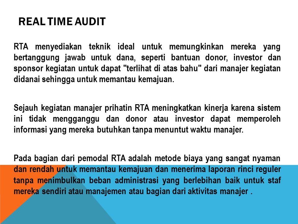 Real Time Audit