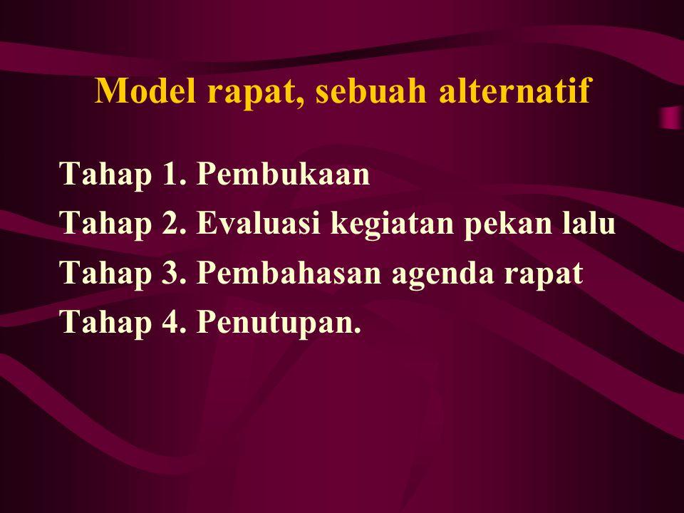 Model rapat, sebuah alternatif